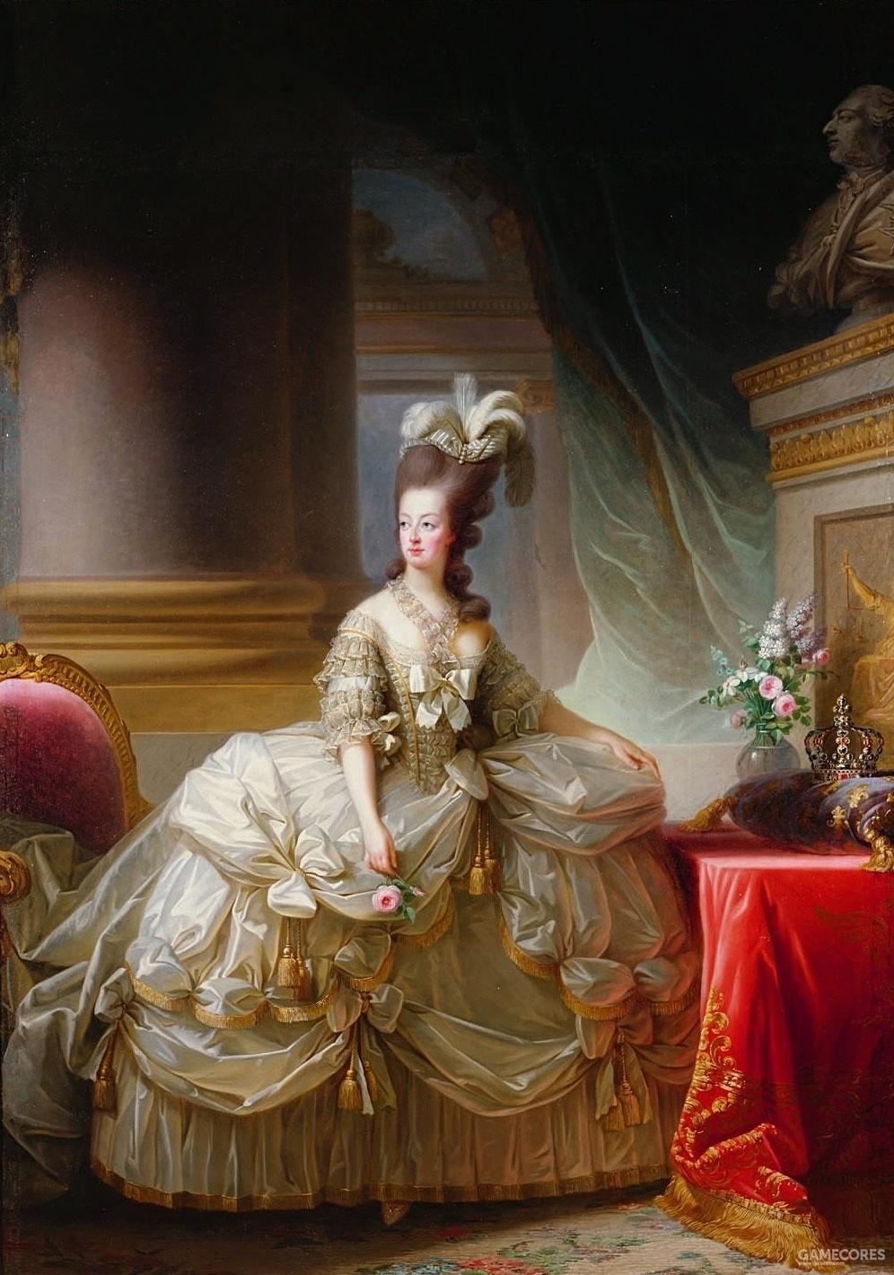 Portrait of Marie Antoinette by Élisabeth Vigée Le Brun, 1778
