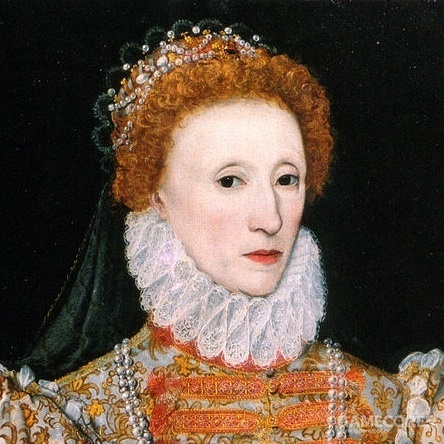 The Darnley Portrait of Elizabeth I of England , 1575 (局部)