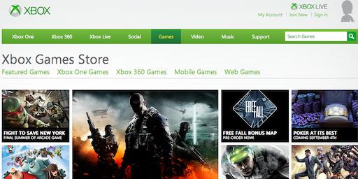 XboxLive卖场改名Xbox游戏商店