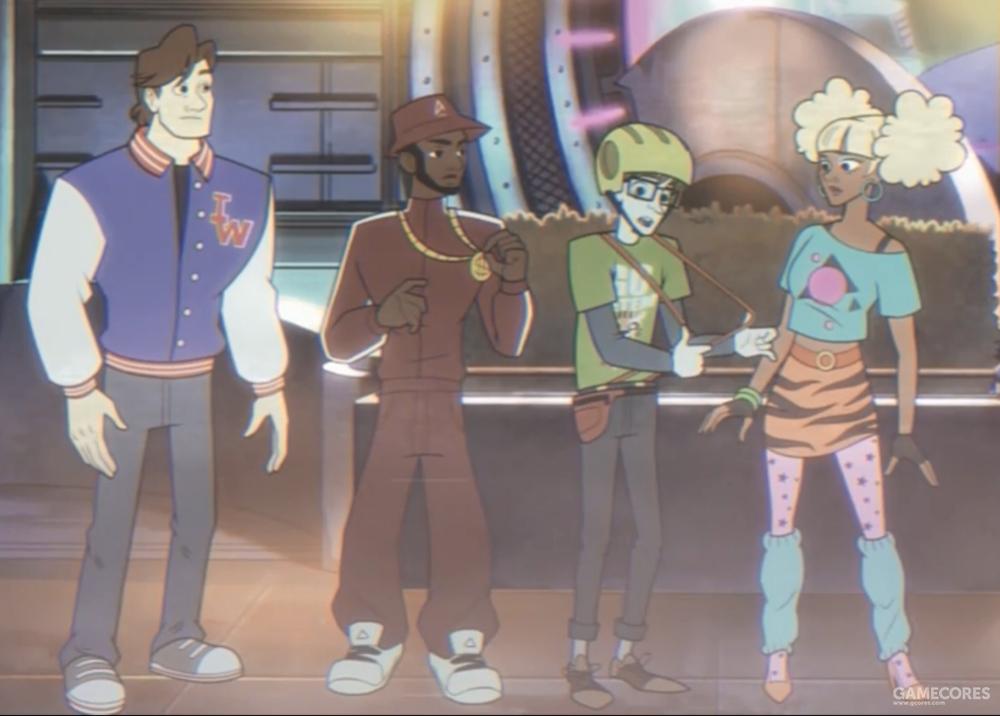 四小强在僵尸太空乐园开场动画中的形象