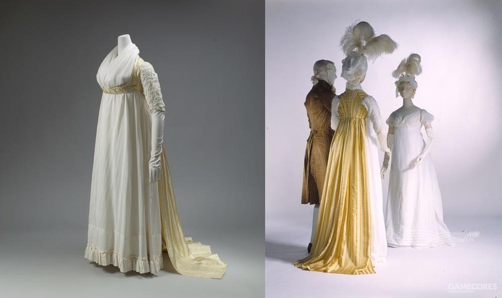 Dress, 1795–97 (MET) 另一件过渡时期的款式