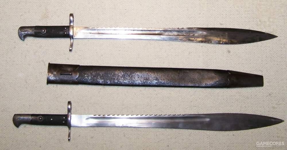 1870年左右的埃尔克(Elcho)剑刺刀,用来配备新式步枪。刺刀长64cm,还可以用来当砍刀和锯子用