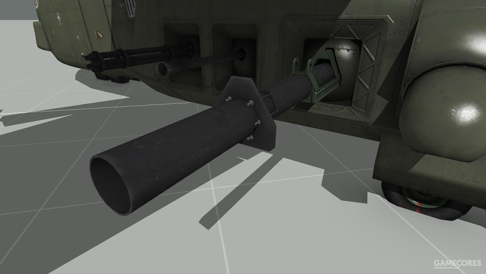 V-44作为空中炮艇使用时,可以在侧面安装20mm、40mm和105mm火炮