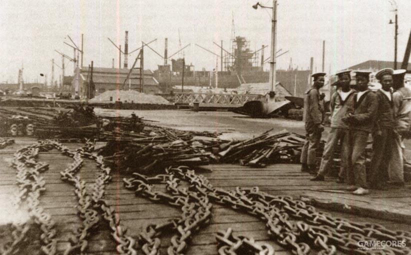 江南造船厂的船台上