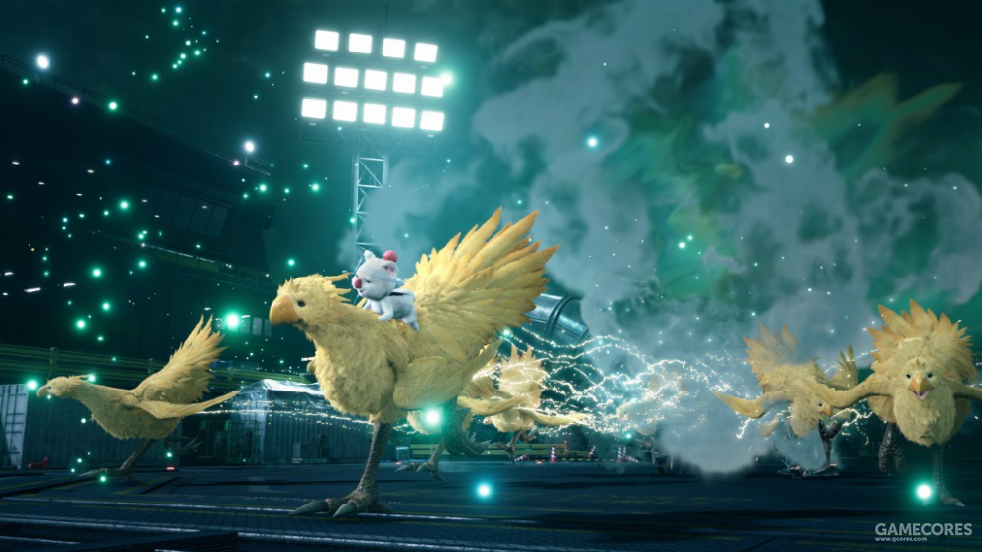 """陆行鸟&莫古力的""""大绝招!!!""""发动后会有众多陆行鸟一起冲撞敌人。"""