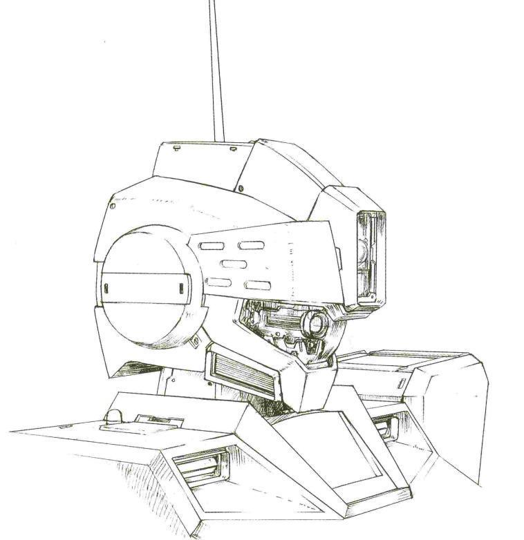 正常作战模式下,头部结构开启。RGM-79SP墨镜式结构下依旧是RGM-79G/GS相同的独眼轨道式传感器。