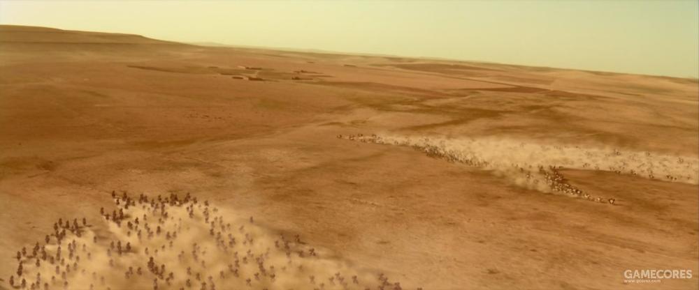 亚历山大的骑兵对贝苏斯的骑兵实现了反包围战术