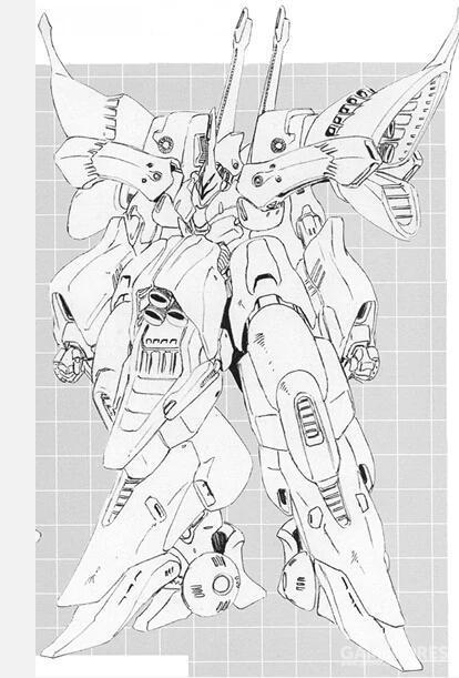 PMX-004 泰坦妮亚。根据设定,该机是大战结束时朱庇特利斯号内尚未完成的机体。整合了PMX系列技术与赛克缪武器系统的该机是希洛克为之后理想中统治世界的女性开发的机体。