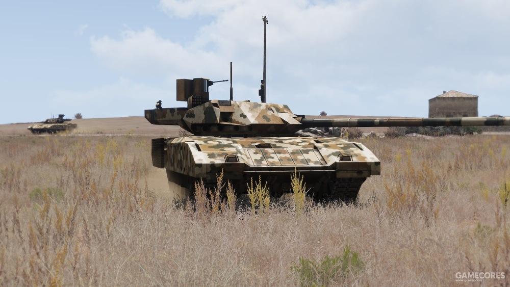 实战中的T-140坦克