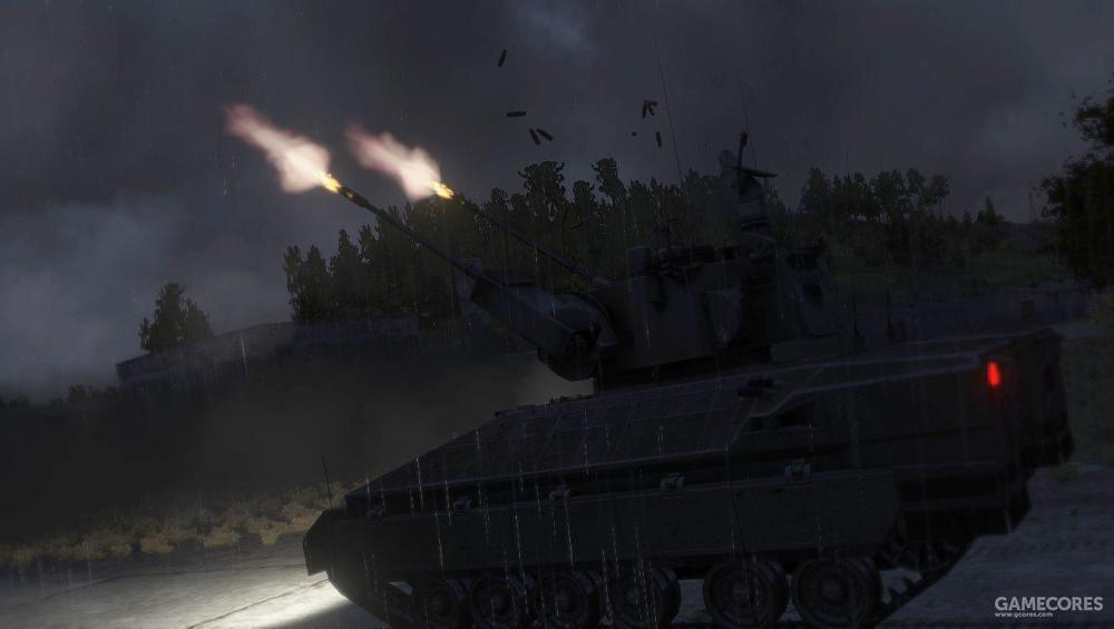 射击中的IFV-6A高射炮