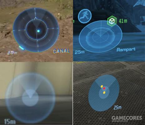 《无限》,《致远星》,《战斗进化》和3代各自的运动传感器显示形式