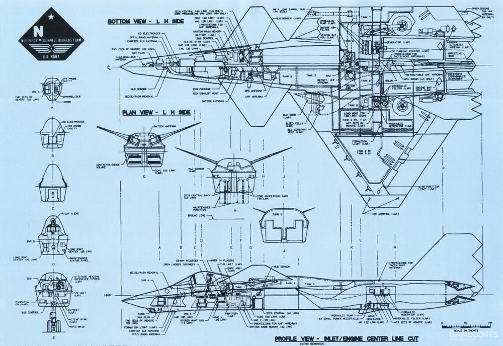 除此之外,DP527还加高了驾驶舱位置以优化航母起降视野。可以说相比YF-23/F-23的构型,已经完全是另一条技术路线的结果。