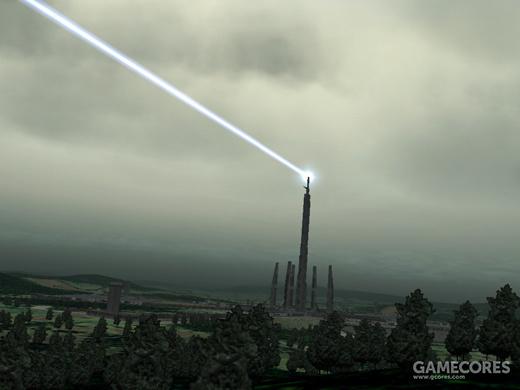 """Excalibur""大型反洲际弹道导弹激光塔"