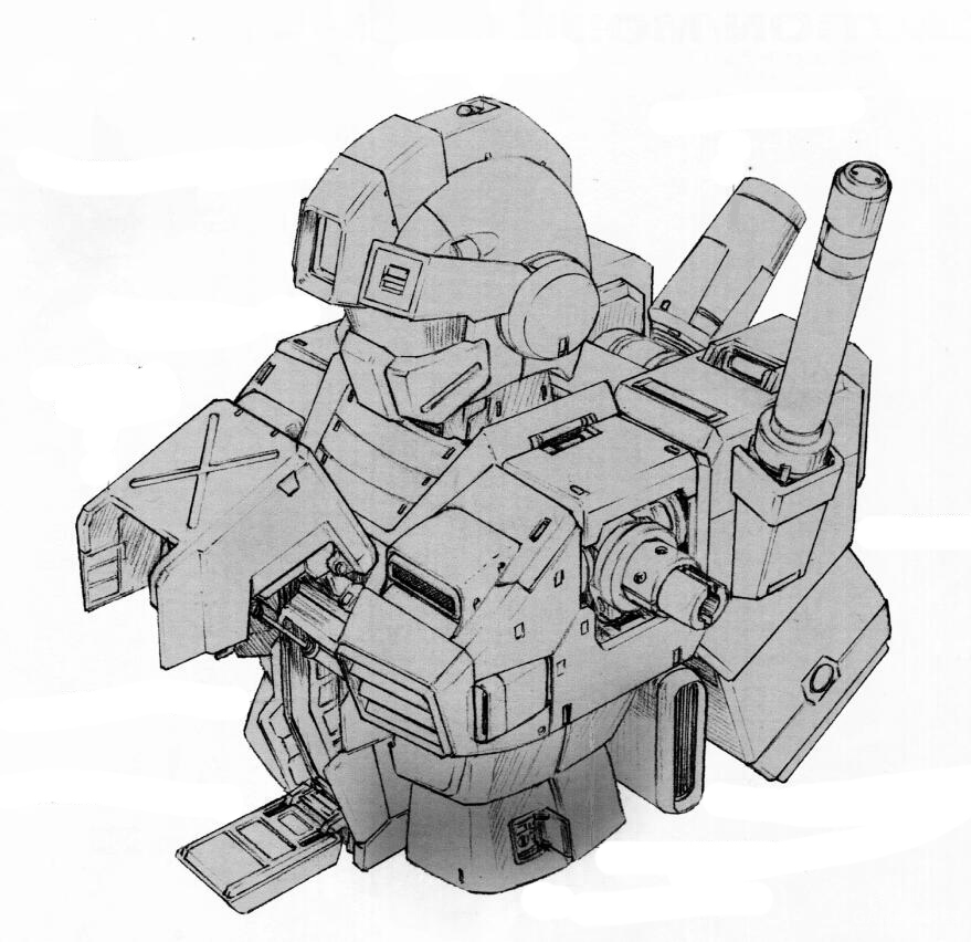 RGM-79FD的强化装甲和RGM-79F沙漠型的装甲样式大体相同。MS头部也安装了帽檐式装甲模块。而绝大部分原设计中因为装甲外新加装甲而形成双层结构的部分在RGM-79FD中被一体成型的装甲替代。驾驶舱因为厚重的装甲防护,舱门开启方式进行了较大修改。