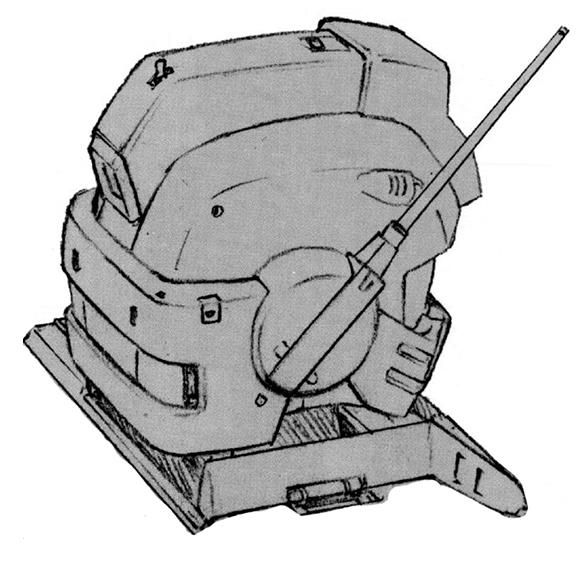 除了附加装甲外,RGM-79F机体头部增加了全方位通讯天线以强化其通信能力。另外,对空识别信号灯等细碎但是对于地面战环境不可或缺的设备也被添加到顶部。