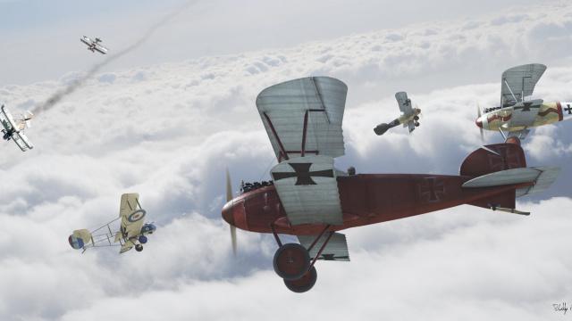 """铁翼雄风:一战中那些""""飞行器上的好小伙"""""""