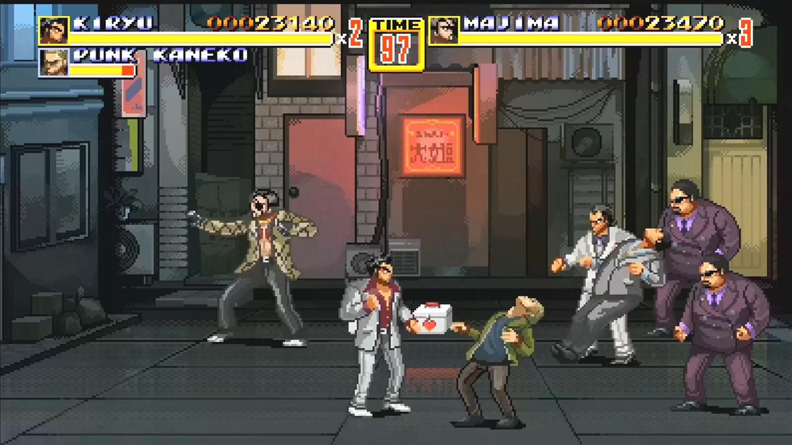 《人中之龙》×《怒之铁拳》!免费横版动作游戏《神室町之铁拳》10月17-19登陆Steam