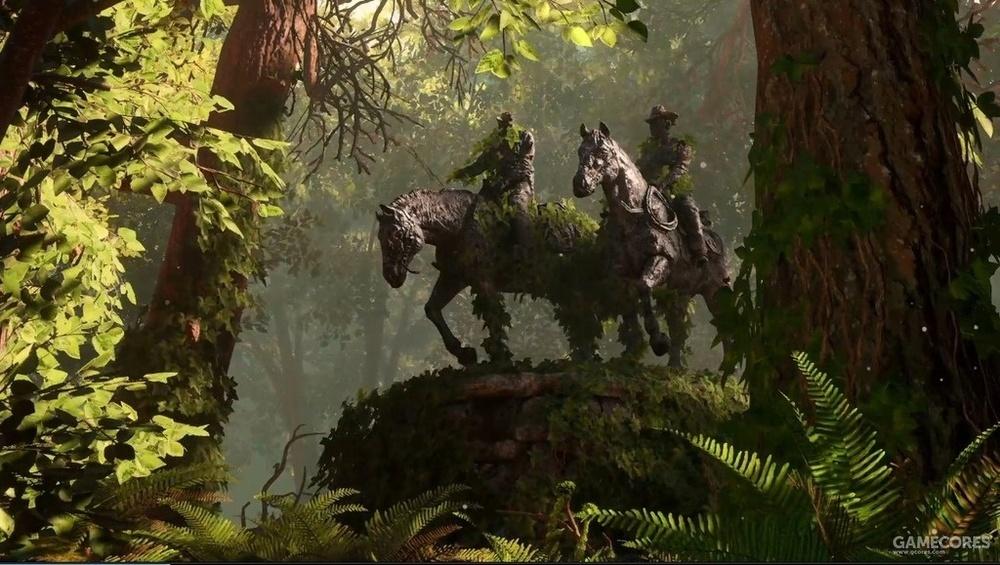 预告片中的雕像