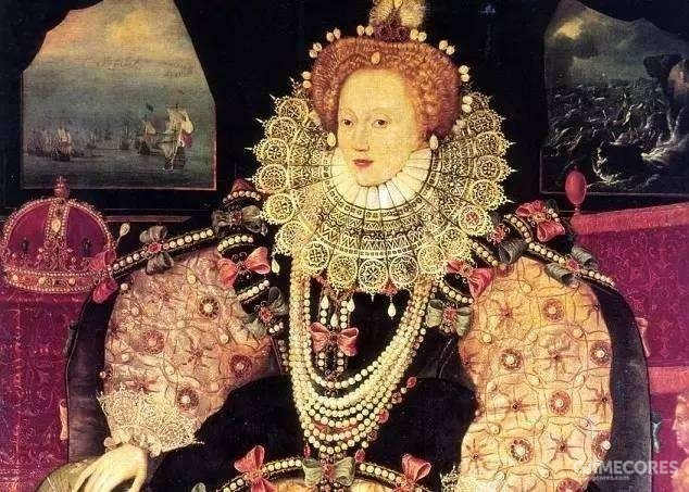 伊丽莎白一世。在位期间大力推动海外贸易事业,并且组建私掠船队打击竞争对手西班牙