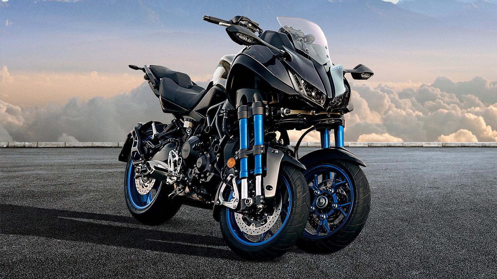 """前二轮后一轮,充满未来感的三轮摩托车""""NIKEN""""开始接受预定"""