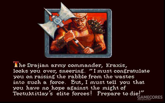 手持金属大斧的正是统领巫王军队的指挥官