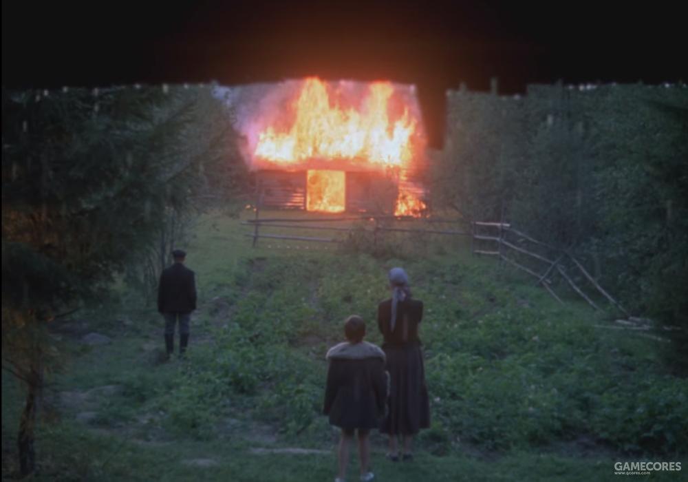 一间房子在燃烧