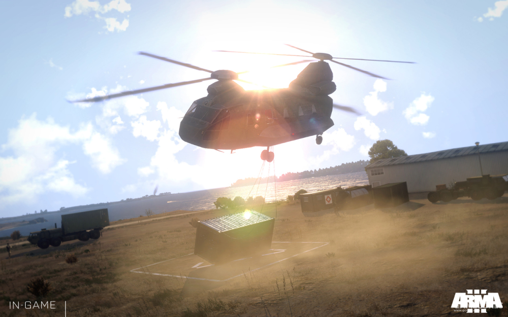 吊装中的CH-67