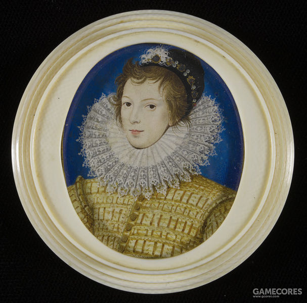 Portrait miniature of an unknown youth in yellow by Nicholas Hilliard, c 1585-1590