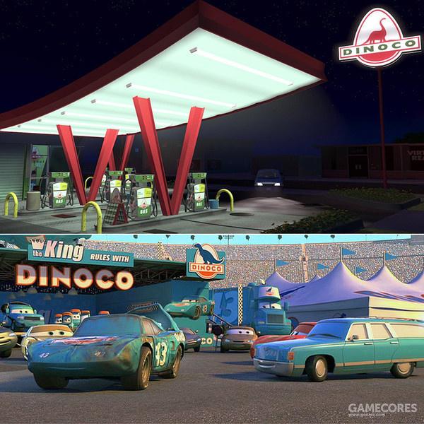 成为《汽车总动员》赞助商的Dinoco