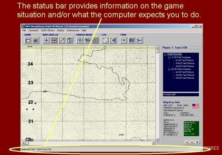 状态栏提供了当前战况态势的信息,以及计算机对你的相关提醒。