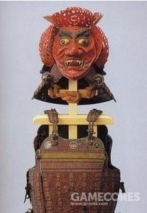 上杉謙信朱皺漆紫糸素懸威具足三宝荒神兜仙台市博物馆