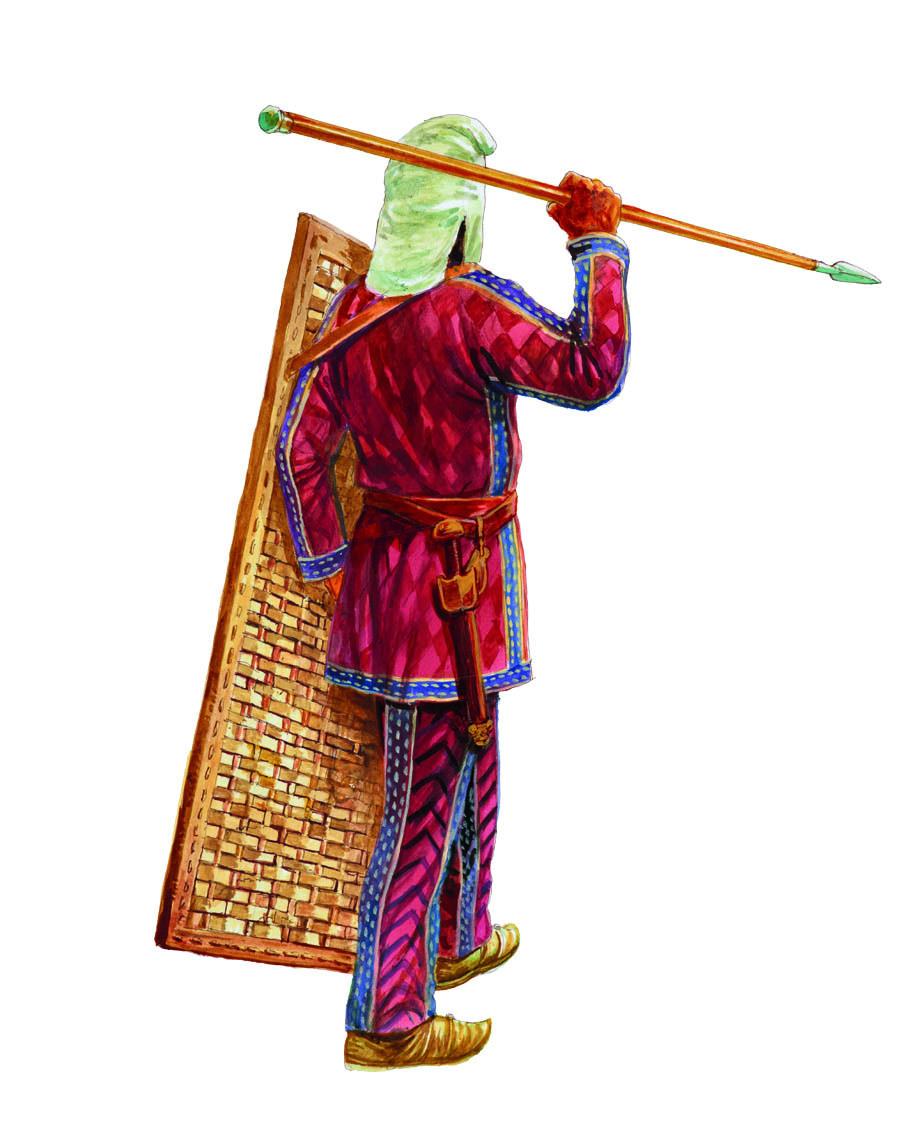 他的副武器是一把很短的匕首,比希腊人的短剑更短