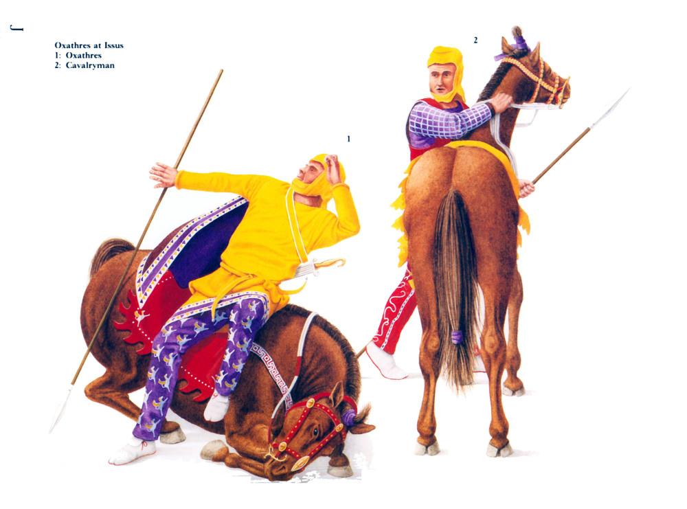 晚期波斯骑兵,基于伊苏斯镶嵌画复原