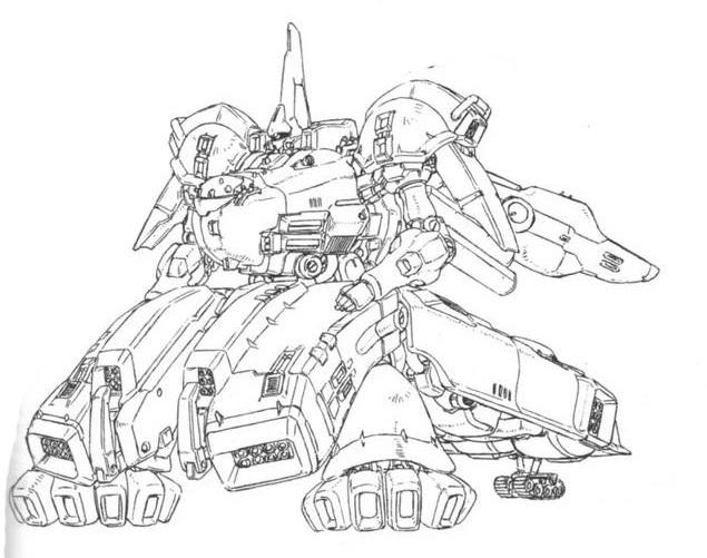 The·OⅡ设定上是基于The·O的数据,由叛逃至新吉翁的朱庇特利斯号成员开发的陆战机体。