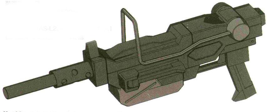 地球联邦军陆军使用较多的依旧是100MM的YHI YF-MG100机枪。相对较重的弹丸在大气层环境存速能力较好。而对于HE和HESH等弹种来说,更大口径也能有更大装药量。该型机枪在短暂停产后就又在陆军的强烈要求下重新开始生产,一直到战后联邦军统一军备后才退出现役。