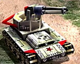 加特林坦克,专业防空反步兵载具,和《尤里复仇》的加特林坦克一样