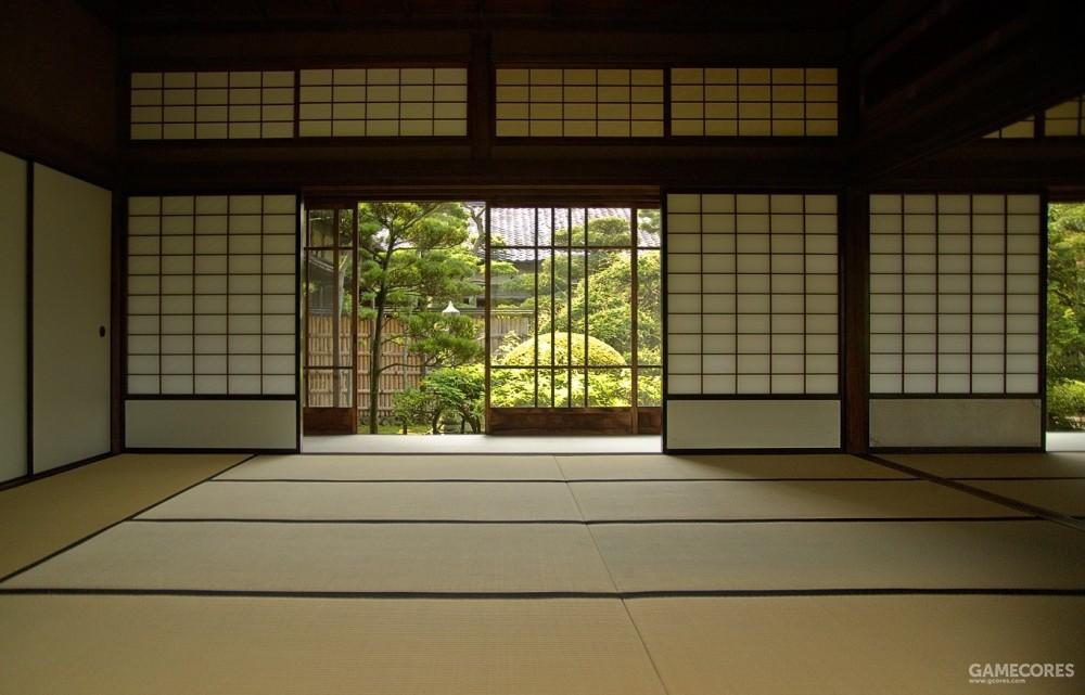 日本传统建筑中的障子也是流动空间中脆弱的屏障