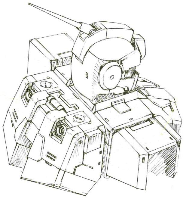背包为大推力化的全新产品。为平行的四火箭发动机结构。背部有额外的控制喷口。为了腾出相关空间,背部的光束军刀座被移动到手腕部位。同时,头部追加了长距离通讯天线。