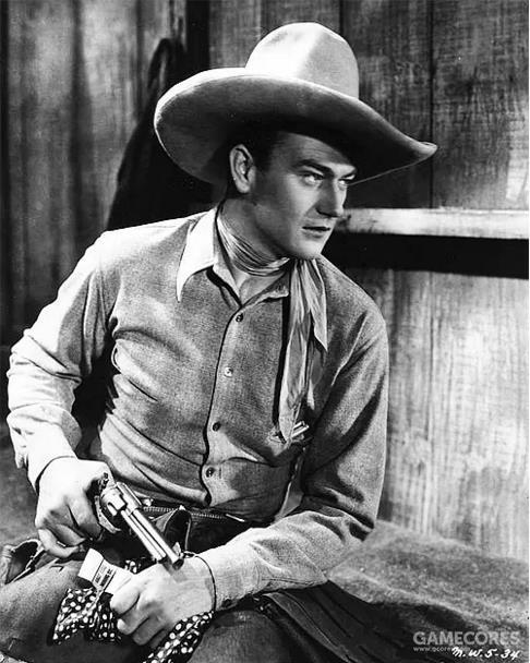 约翰·韦恩(1907-1979),美国电影演员,美式西部片的人物象征