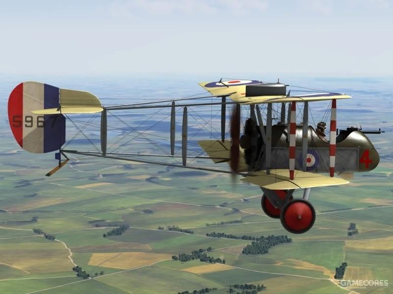 """艾科(未来的德·哈维兰)""""DH.2"""",通过将螺旋桨布置在机身后方避免了机枪问题"""