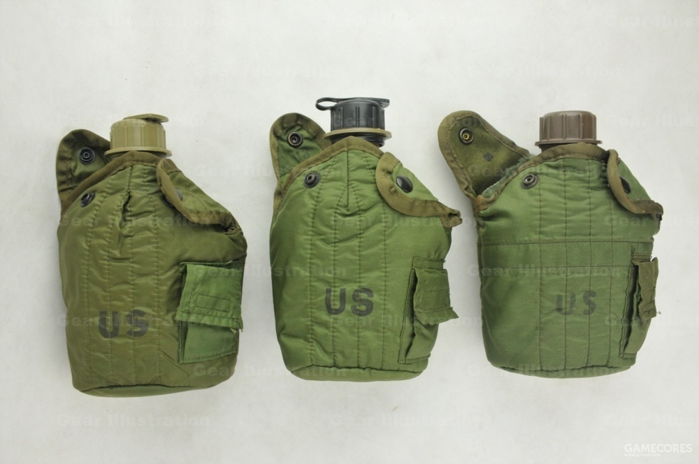 M-1967 LLCE装具水壶包,根据年代不同,有细节差异