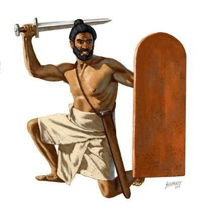 当时的印度剑盾兵