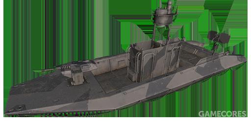 游戏中北约的军用快艇