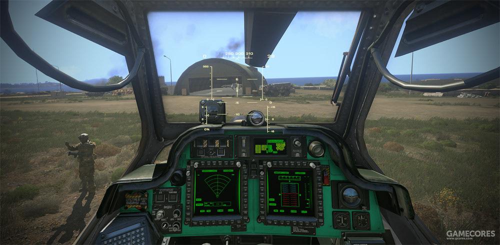 米-48座舱,这完全就是换了个颜色的AH-64好吧……