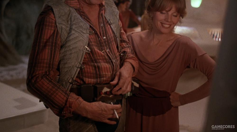 """正在向村民展示自己腰带的""""太空牛仔"""",这玩意太酷了"""