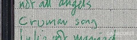 一张截图: Minidisc 117的封面,截自 MINIDISCS[Hacked]。第三首歌是超早期的 Melatonin 的 demo,在这被列为 Crumar Song。