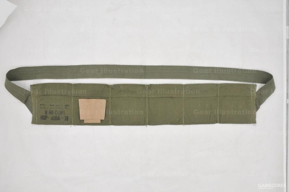 M2型,从二战时期开始使用,可容纳6个M1加兰德漏夹,M1被M14代替之后用来装7.62NATO弹药,可容纳12个5发7.62桥夹。图示为60年代产