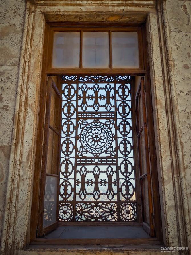 柱廊的窗子