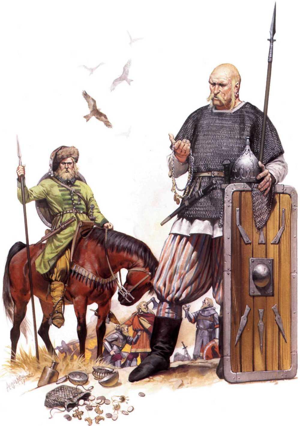 10-11世纪,定居在东欧平原上的维京人