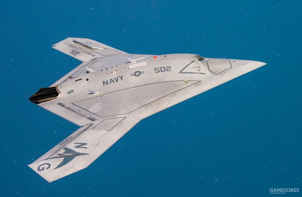 现实中的X-47B